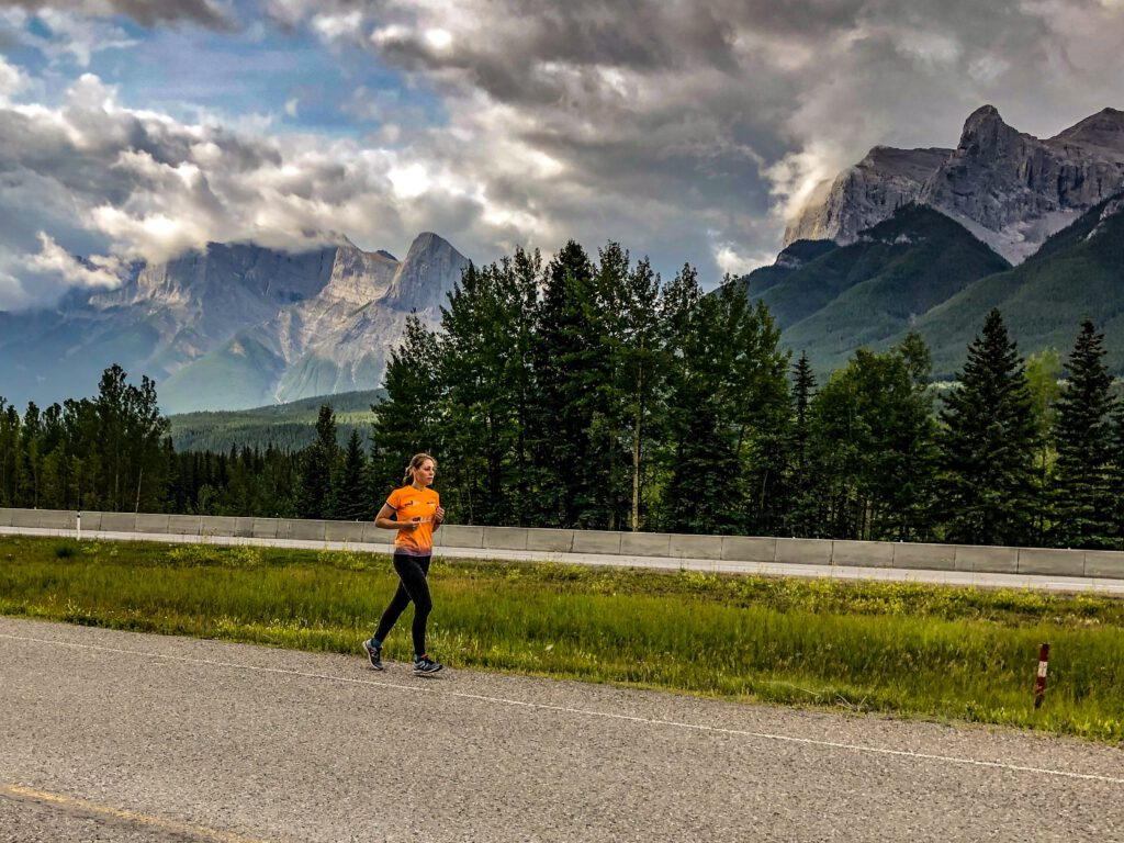 Running in Canmore Canada