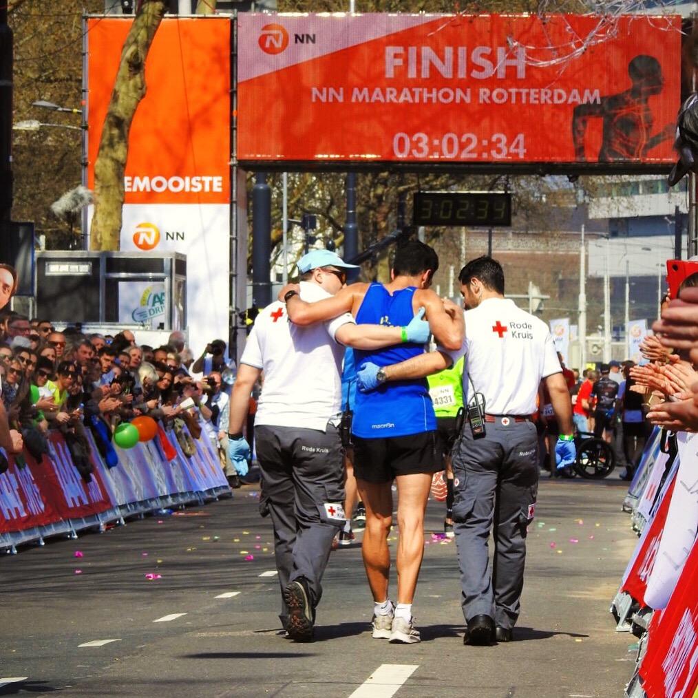 Finish marathon Rotterdam - 2019