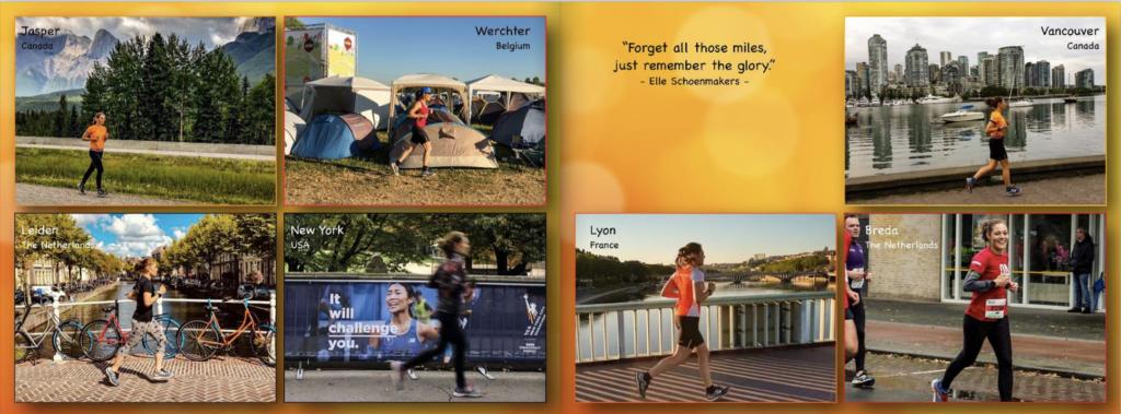Fotoboek inspiratie - voorbereidingen marathon