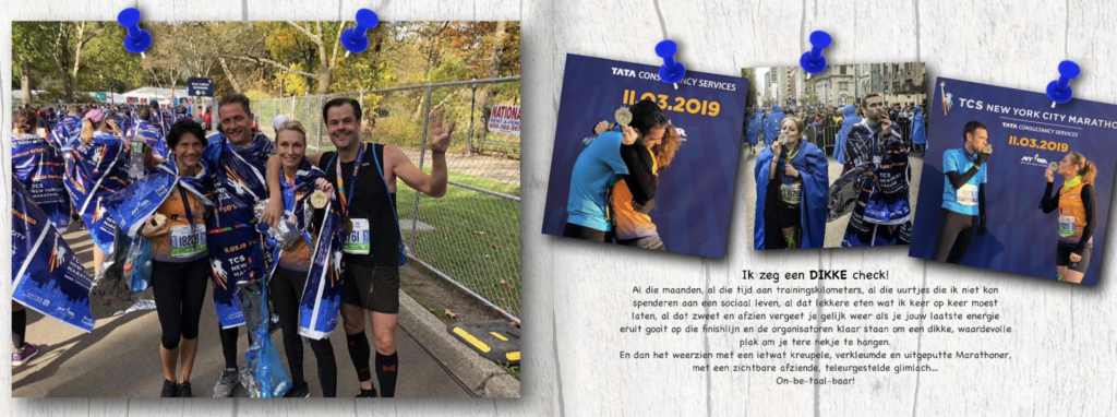 Fotoboek inspiratie - Finish Marathon New York