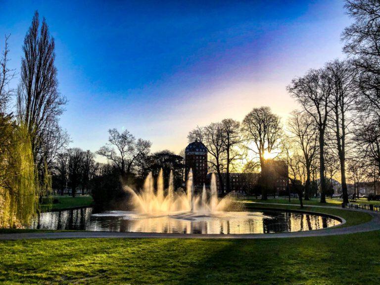 Breda - park fontein